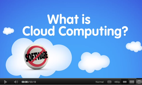 An image with a video about cloud computing