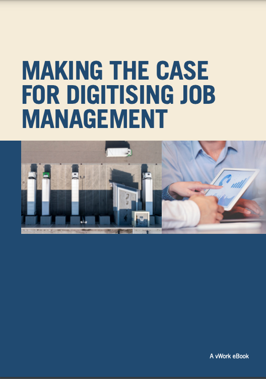 eBook cover - making the case for digitizing mobile job management